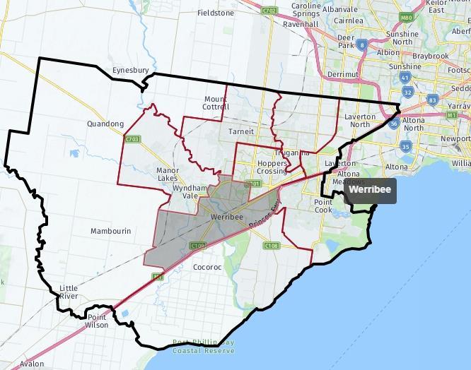 Werribee Map Area