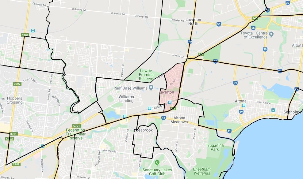 Laverton Map