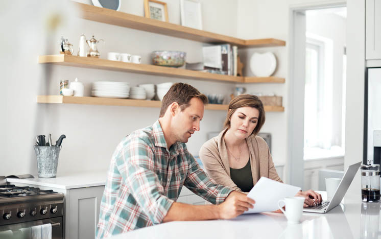 Family Purchasing Property