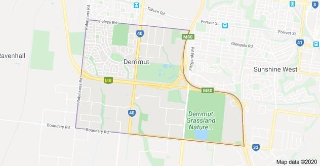 Derrimut Map